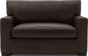 Axis II Leather Twin Sleeper Sofa shown in Libby, Espresso
