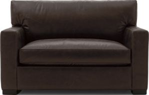 Axis II Leather Twin Sleeper Sofa with Air Mattress shown in Libby, Espresso