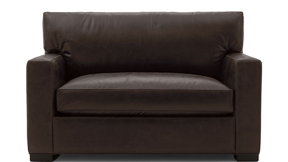 Axis II Leather Twin Sleeper Sofa with Air Mattress - Image 2 of 9