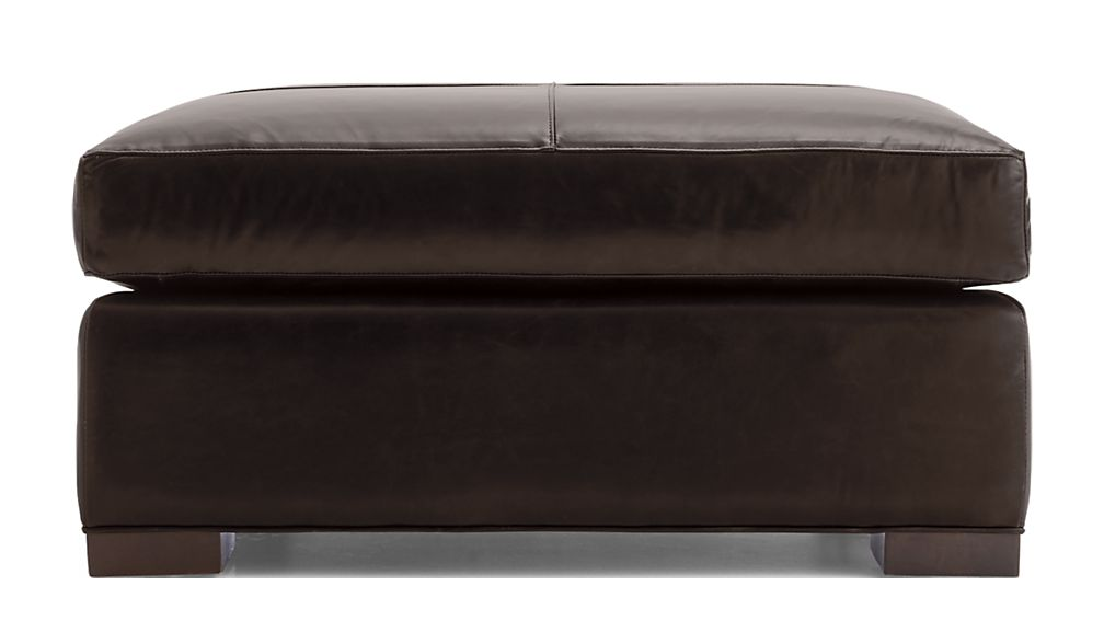 Axis II Leather Square Cocktail Ottoman - Image 2 of 5
