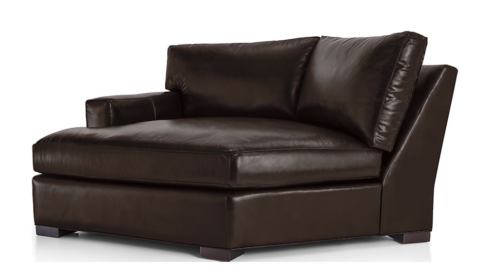 Axis II Leather Left Arm Angled Chaise Lounge - Image 2 of 6