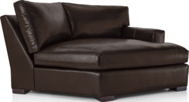Axis II Leather Right Arm Angled Chaise Lounge shown in Libby, Espresso