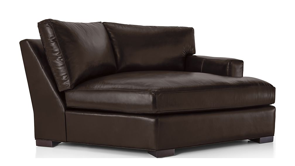 Axis II Leather Right Arm Angled Chaise Lounge - Image 2 of 7