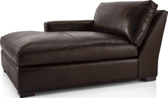 Axis II Leather Left Arm Double Chaise Lounge shown in Libby, Espresso