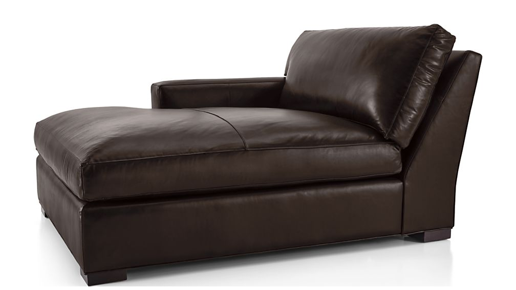 Axis II Leather Left Arm Double Chaise Lounge - Image 2 of 6