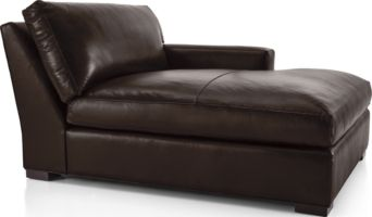 Axis II Leather Right Arm Double Chaise Lounge shown in Libby, Espresso