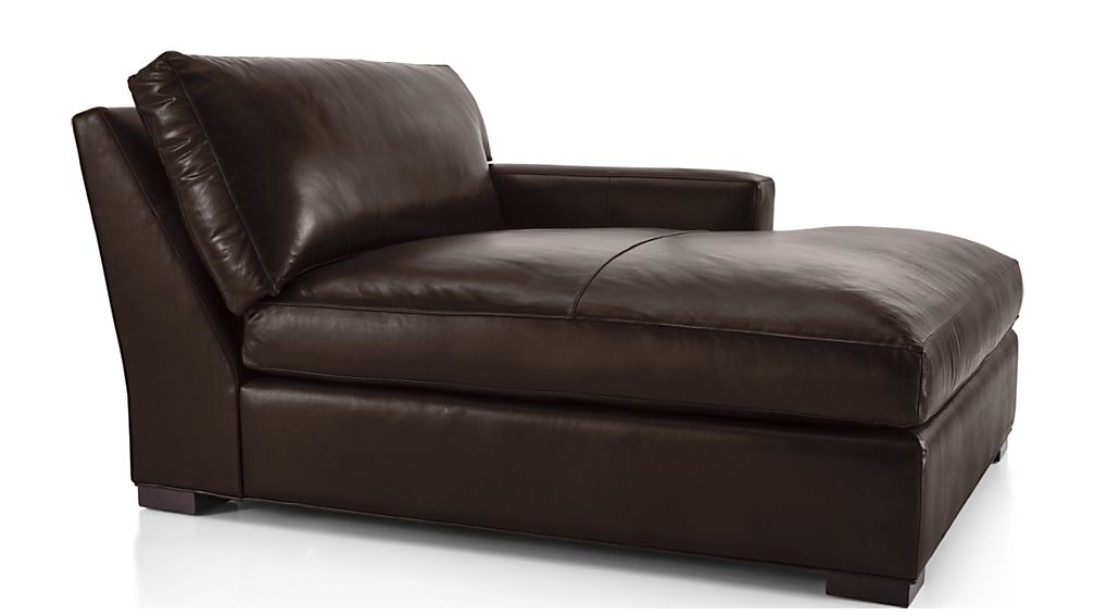 Axis II Leather Right Arm Double Chaise Lounge - Image 2 of 5