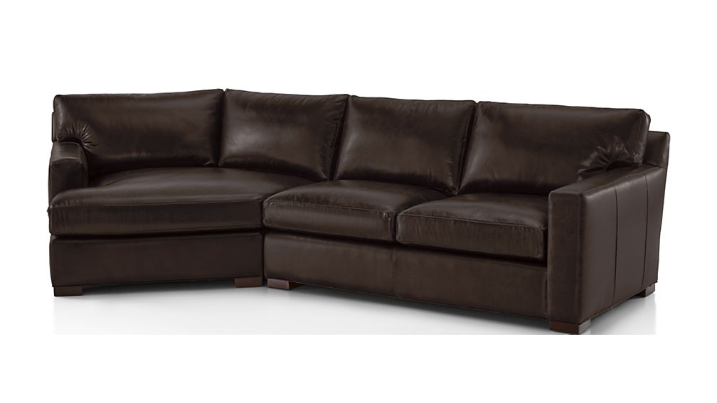 Axis II Leather 2-Piece Left Arm Angled Chaise Sectional Sofa - Image 2 of 2