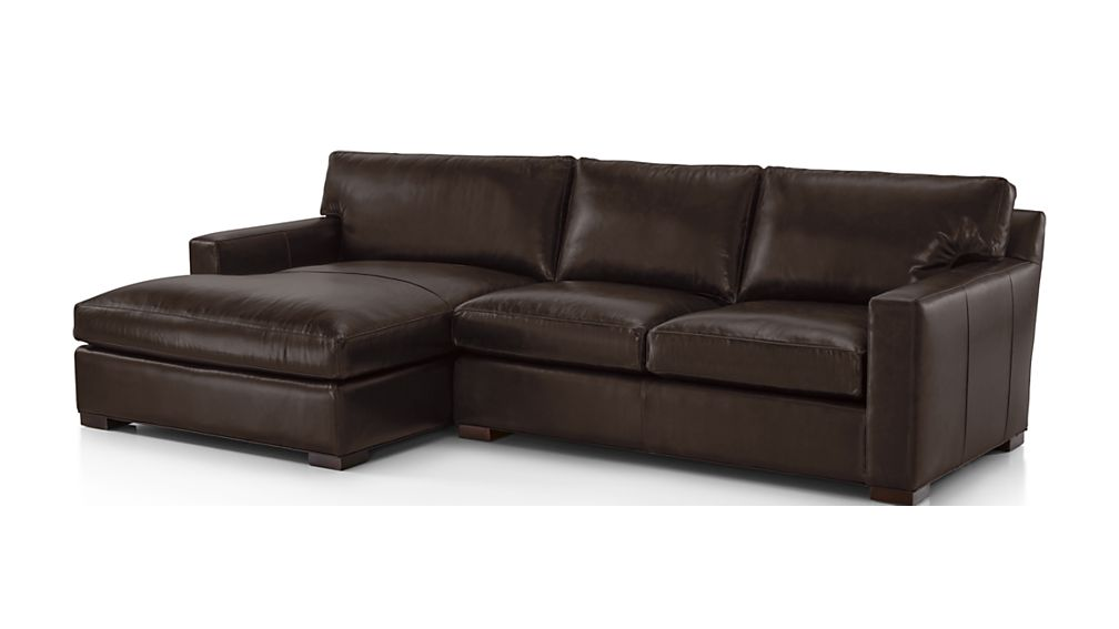Axis II Leather 2-Piece Left Arm Double Chaise Sectional Sofa - Image 2 of 2