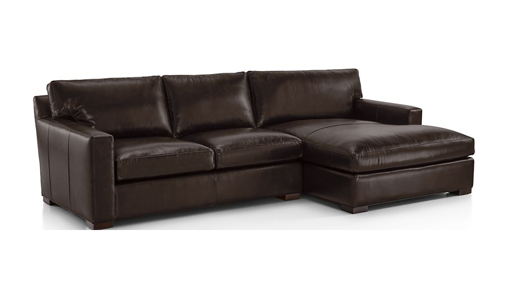 Axis II Leather 2-Piece Right Arm Double Chaise Sectional Sofa - Image 2 of 2