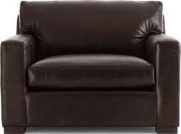 Axis II Leather Chair shown in Libby, Espresso
