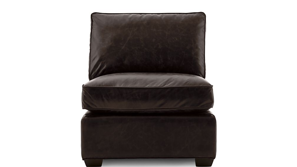 Axis II Leather Armless Chair - Image 2 of 5