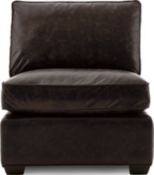 Axis II Leather Armless Chair shown in Libby, Espresso