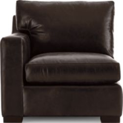 Axis II Leather Left Arm Sectional Chair shown in Libby, Espresso