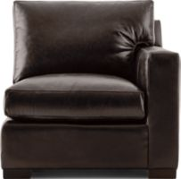 Axis II Leather Right Arm Sectional Chair shown in Libby, Espresso