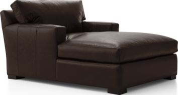 Axis II Leather Chaise Lounge shown in Libby, Espresso