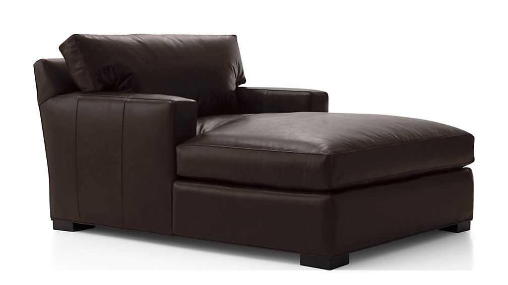 ... Axis II Leather Chaise Lounge ...  sc 1 st  Crate and Barrel : chaise longe - Sectionals, Sofas & Couches