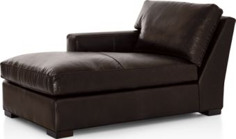 Axis II Leather Left Arm Chaise shown in Libby, Espresso