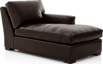 Axis II Leather Right Arm Chaise shown in Libby, Espresso