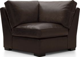 Axis II Leather Corner Chair shown in Libby, Espresso