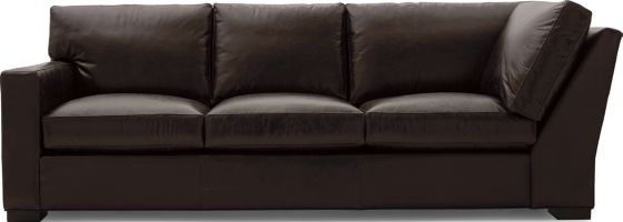 Axis II Leather Left Arm Corner Sofa shown in Libby, Espresso