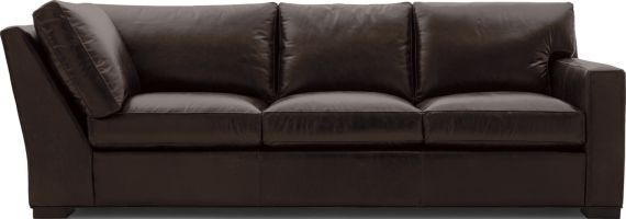 Axis II Leather Right Arm Corner Sofa shown in Libby, Espresso