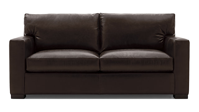 Axis II Leather Full Sleeper Sofa shown in Libby, Espresso
