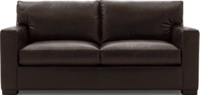 Axis II Leather Full Sleeper Sofa with Air Mattress shown in Libby, Espresso