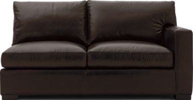 Axis II Leather Right Arm Full Sleeper Sofa with Air Mattress shown in Libby, Espresso