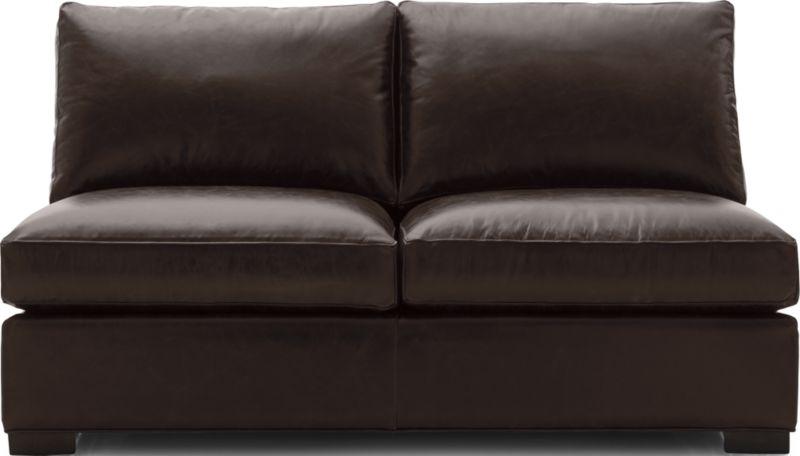 Axis Ii Leather Armless Full Sleeper Sofa In Axis Leather