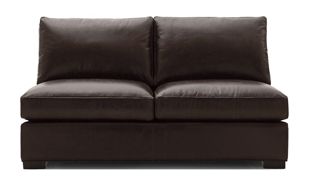 Axis II Leather Armless Full Sleeper Sofa - Image 2 of 7