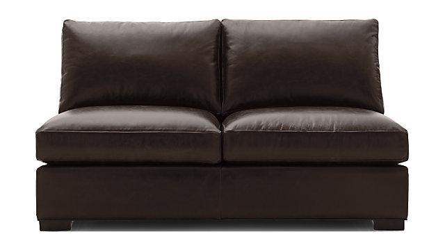Axis II Leather Armless Full Sleeper Sofa | Crate and Barrel