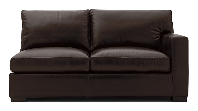 Axis II Leather Right Arm Full Sleeper Sofa shown in Libby, Espresso