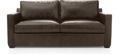 Davis Leather Sofa shown in Libby, Cashew