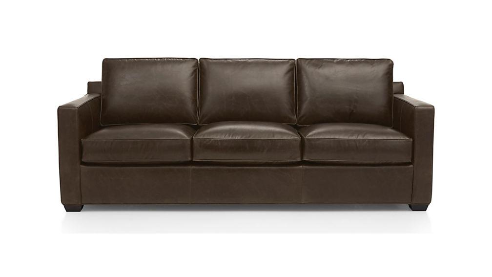 Davis Leather 3 Seat Sofa