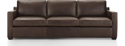 "Davis Leather 3-Seat 103"" Grande Sofa shown in Libby, Cashew"