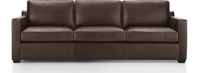 "Davis Leather 3-Seat 103"" Grande Sofa shown in Libby, Cashew"
