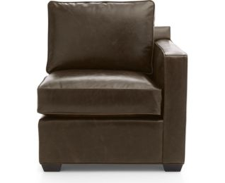 Davis Leather Right Arm Chair shown in Libby, Cashew