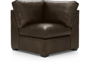 Davis Leather Corner Chair shown in Libby, Cashew