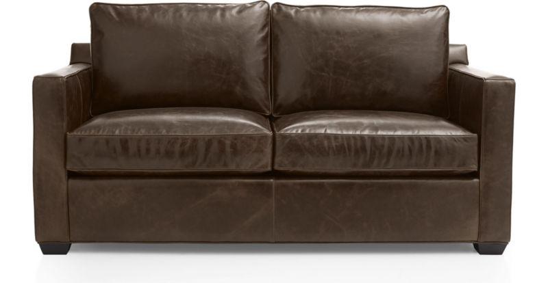 Davis Leather Full Sleeper Sofa Crate and Barrel