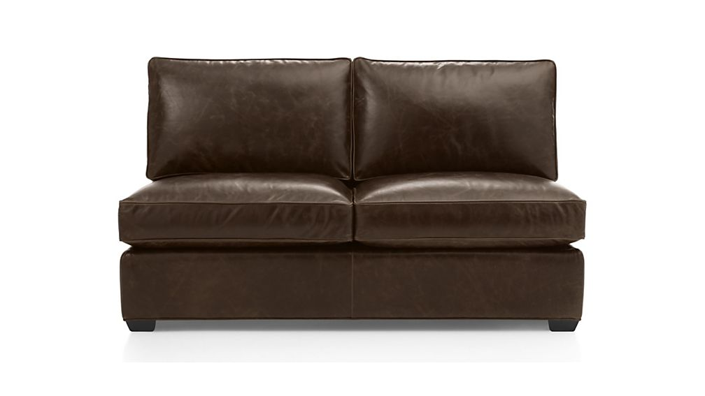 Armless leather sofa leather sofas cb2 thesofa for Crate and barrel armless chair