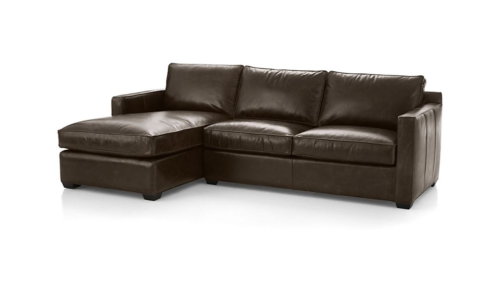 ... Davis Leather 2-Piece Sectional Sofa ...  sc 1 st  Crate and Barrel : crate and barrel davis sectional - Sectionals, Sofas & Couches