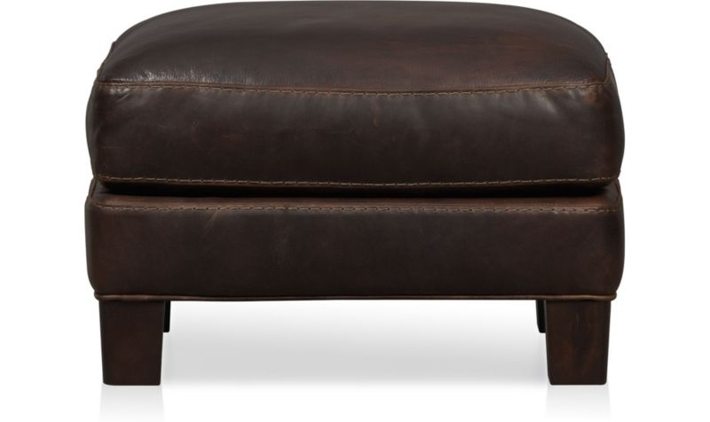 Super Briarwood Leather Ottoman Reviews Crate And Barrel Gmtry Best Dining Table And Chair Ideas Images Gmtryco