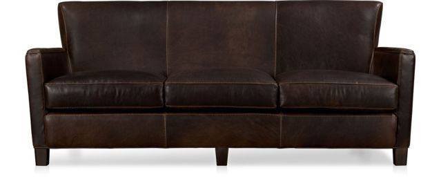 Briarwood Leather Sofa shown in Potomac, Oak