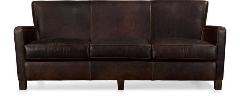 Briarwood Leather Sofa Reviews Crate And Barrel