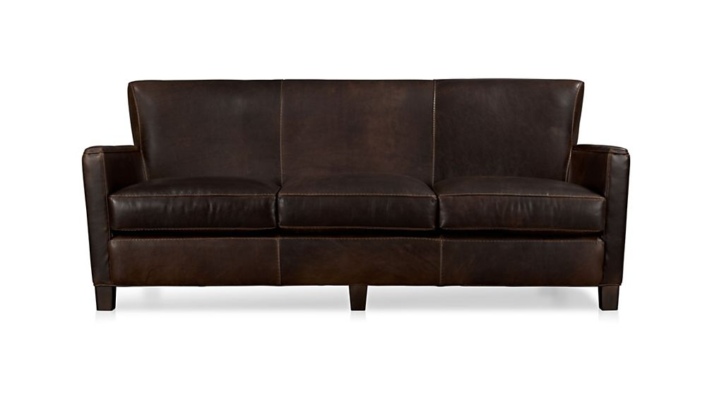 Crate And Barrel Leather Sofas Davis Queen Sleeper