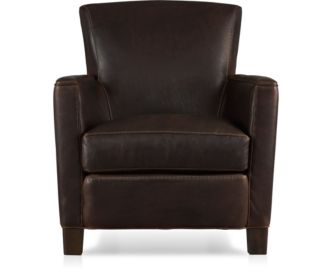 Briarwood Leather Chair shown in Potomac, Oak