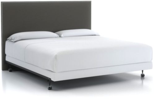 Cole Upholstered King Headboard. shown in Duet, Nickel