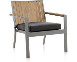 "Alfresco Natural Lounge Chair with Sunbrella ® 3"" Cushion shown in Sunbrella, Charcoal"