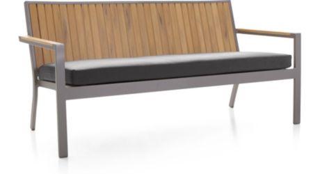 "Alfresco Natural Sofa with Sunbrella ® 3"" Cushion shown in Sunbrella, Charcoal"